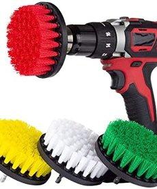 "DRILLBRUSH Drill Brush White Drill Brushes Multi-Color 4""- 4pc"