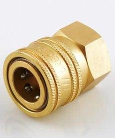 "INTERSTATE PNEUMATICS Interstate Pneumatics Pressure Washer Brass Quick Coupler NPT 1/4""F"