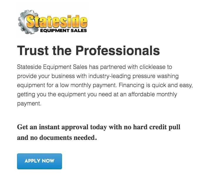 Quickspark financing application