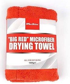 "MAXSHINE Maxshine Microfiber Drying Towel 1000gsm Big Red 20""x28"""