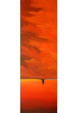 Ed Wyatt Red Sky Over Taos - Acrylic on Canvas - Ed Wyatt