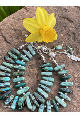 Annette Colby - Jeweler African Turquoise Oblong w/Heart Bracelet - Annette Colby