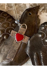 Annette Colby - Jeweler Sterling Cross with Rosarita Heart Necklace - Annette Colby