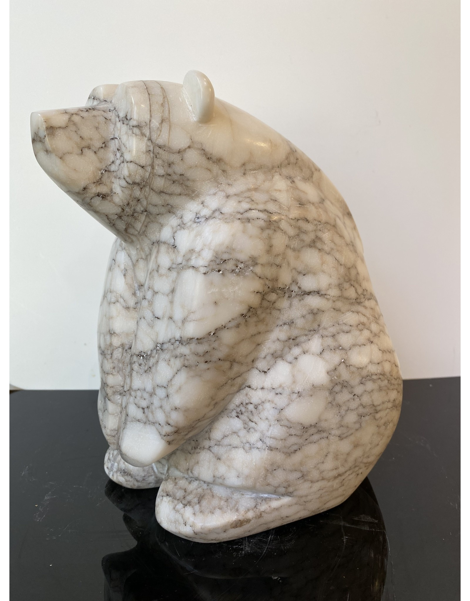 Michael Connor Alabaster Bear Large #5 - Michael Connor