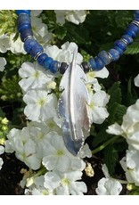 Annette Colby - Jeweler Sterling Feather/Ancient Roman Glass Necklace - Annette Colby