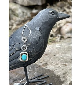 Annette Colby - Jeweler Blue Bird Turquoise Charm Necklace