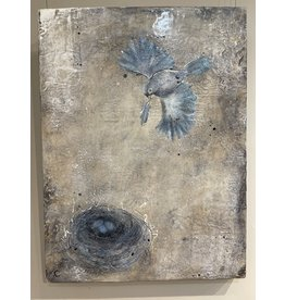 Annette Colby - Painter Love is in the Air - Bird & Nest Encaustic Painting