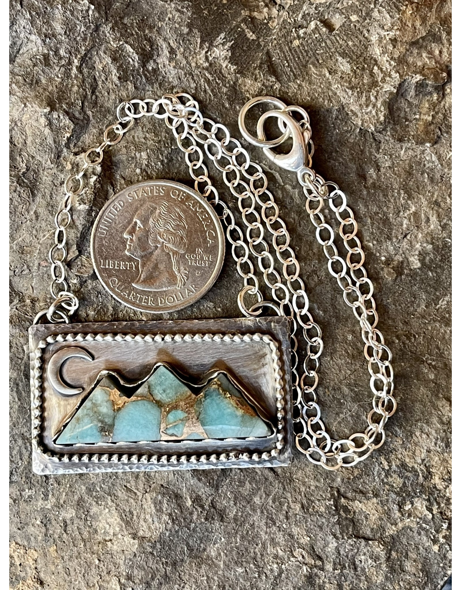 Annette Colby - Jeweler Amazonite Triple Mountain & Moon Necklace - Annette Colby