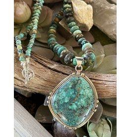 Turquoise Pendant w/Turquiose Necklace