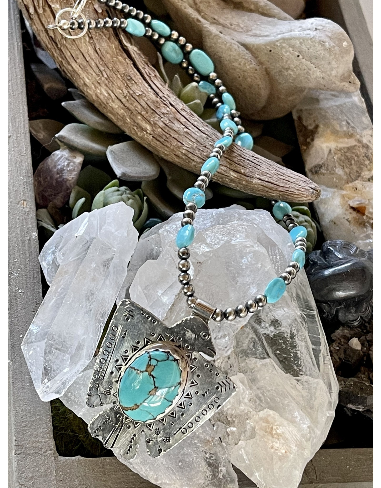Annette Colby - Jeweler Royston Thunderbird, Sleeping Beauty Necklace by Annette Colby