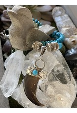 Annette Colby - Jeweler Real Bear Claw Turquoise Necklace by Annette Colby
