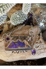 Annette Colby - Jeweler Kingman Mohave Amethyst Triple Mountain Necklace by Annette Colby