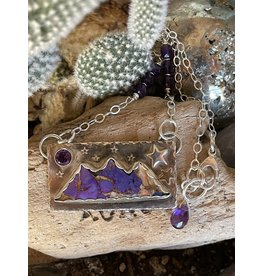 Annette Colby - Jeweler Kingman Mohave Amethyst Triple Mountain Necklace