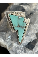 Annette Colby - Jeweler Baja Turquoise Lightning Bolt Ring Size 7 by Annette Colby