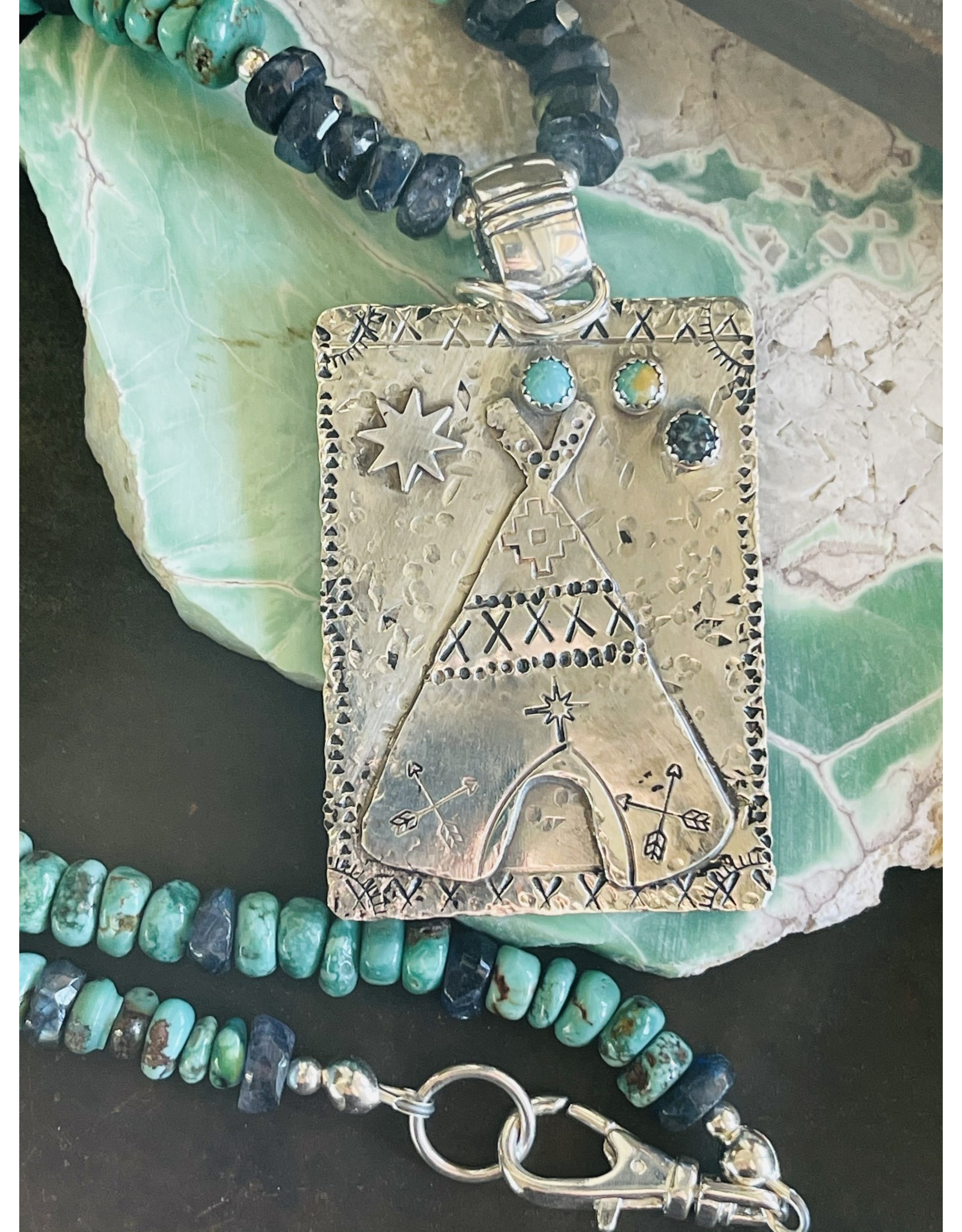 Annette Colby - Jeweler Teepee with Turquoise and Labradorite by Annette Colby