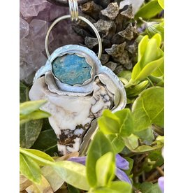 Annette Colby - Jeweler Wild-Horse Steer Pendant with Nevada Turquoise Necklace