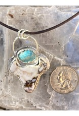 Annette Colby - Jeweler Wild-Horse Steer Pendant with Nevada Turquoise Necklace  by Annette Colby