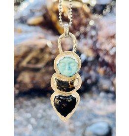 Annette Colby - Jeweler Sun, Moon, Heart Triple Necklace