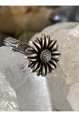 Annette Colby - Jeweler Sterling Hand Cast Sunflower on Twig Ring  Size6.5 by Annette Colby