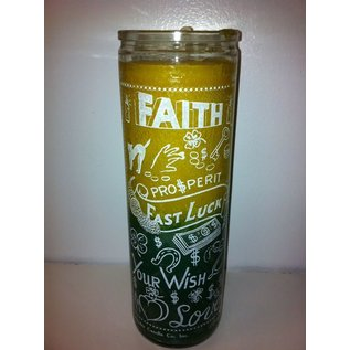 Faith (Yellow/Green) 7 Day Candle