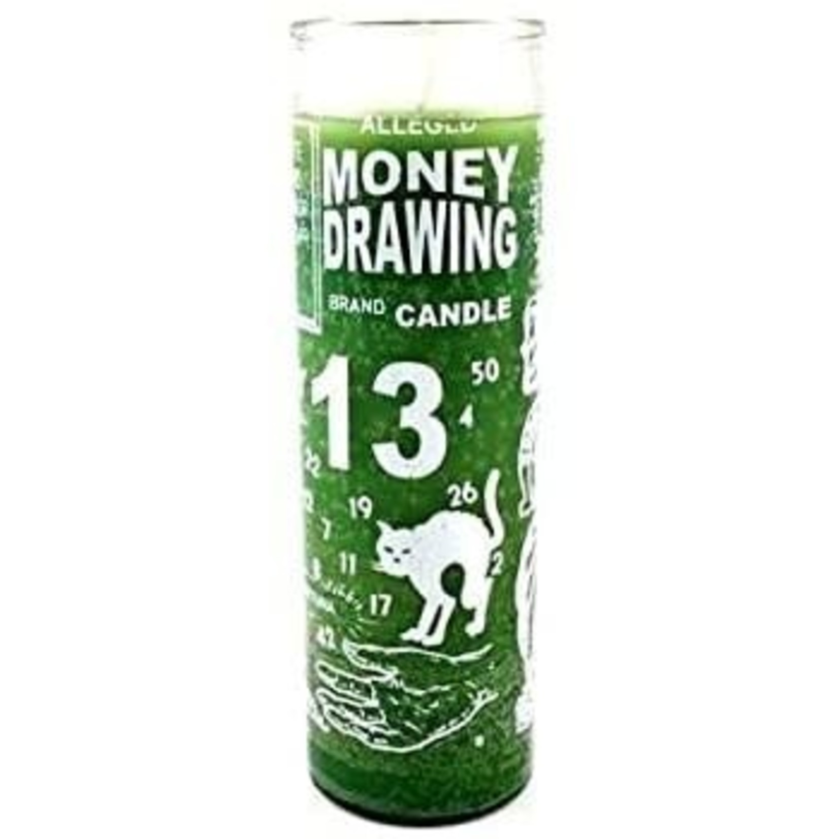 Money Drawing 7 Day Candle - Green