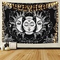 Sun & Moon Tapestry Black And White