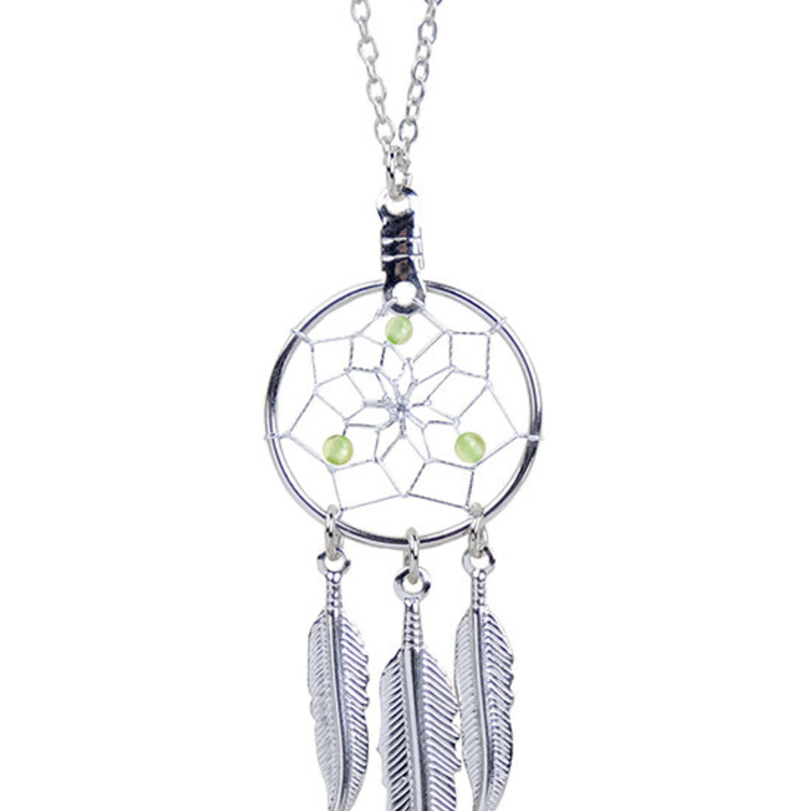 August Dreamcatcher Birthstone Necklace