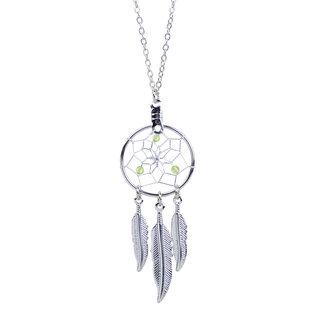 August Dreamcatcher Birthstone Necklace