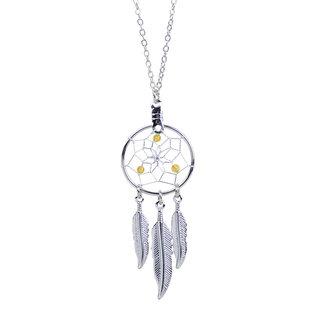 December Dreamcatcher Birthstone Necklace