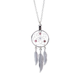 January Dreamcatcher Birthstone Necklace