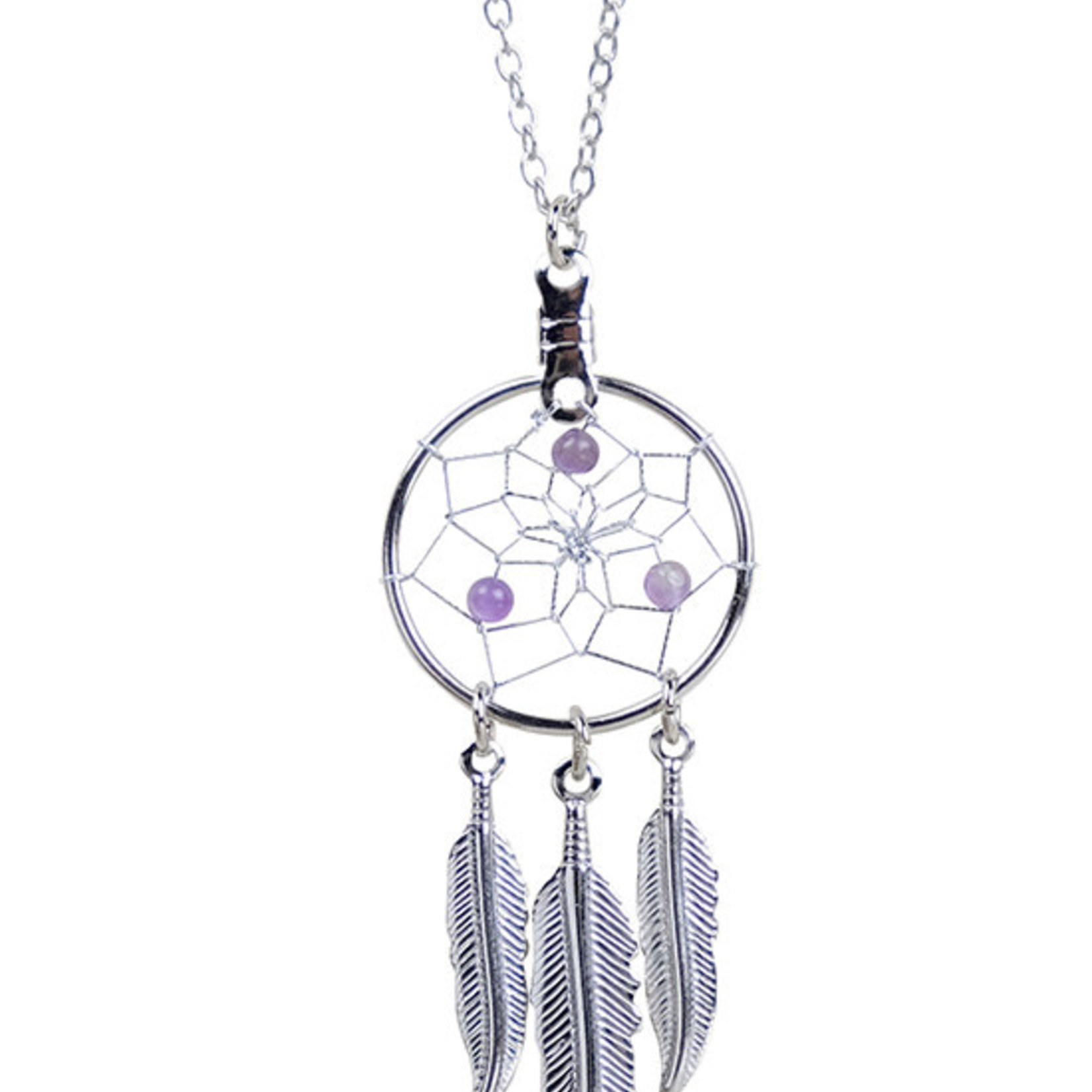 February Dreamcatcher Birthstone Necklace