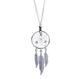 February Dreamcatcher Birthstone Necklace