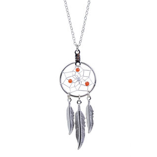 July Dreamcatcher Birthstone Necklace