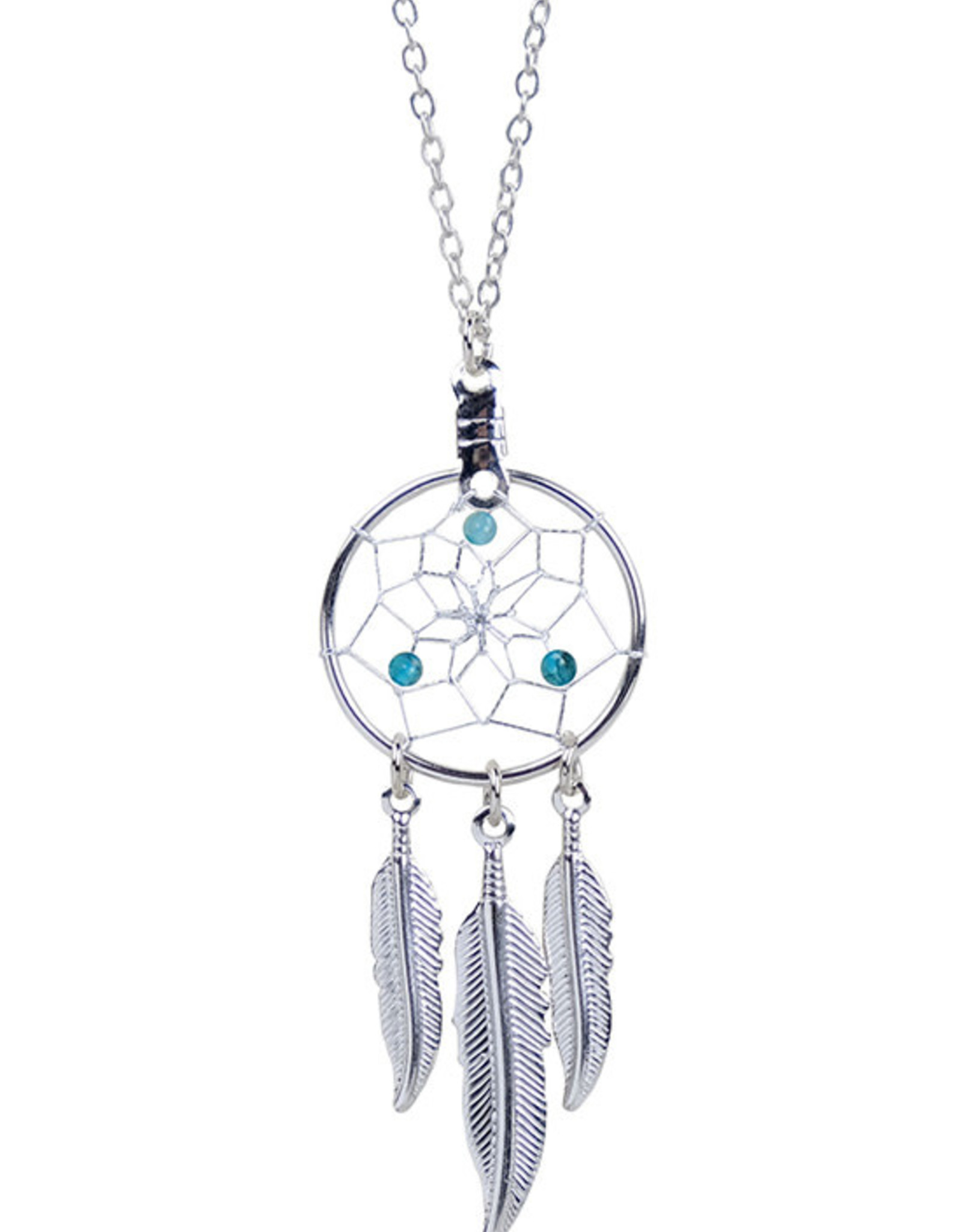 March Dreamcatcher Birthstone Necklace