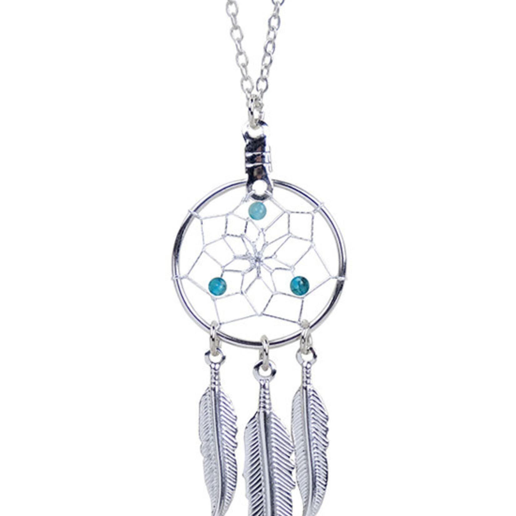 March Dreamcatcher Birthstone Necklace