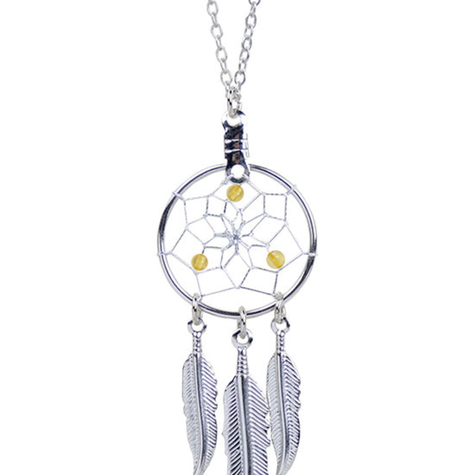 November Dreamcatcher Birthstone Necklace