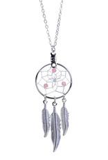 October Dreamcatcher Birthstone Necklace