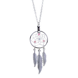 October Dreamcatcher Birthstone Necklace