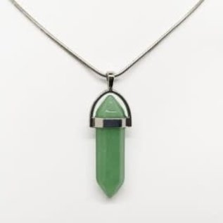 Green Aventurine Bullet Shaped  Necklace
