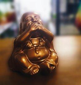 Speak No EVil Copper Coloured Buddha