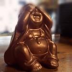 See No Evil Copper Coloured Buddha