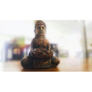 Buddha With Lotus Flower Candle Holder