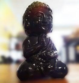 Medatating Chi Buddha Black Coloured