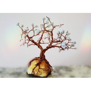 Yellow Calcite, Blue Lace Agate Tree