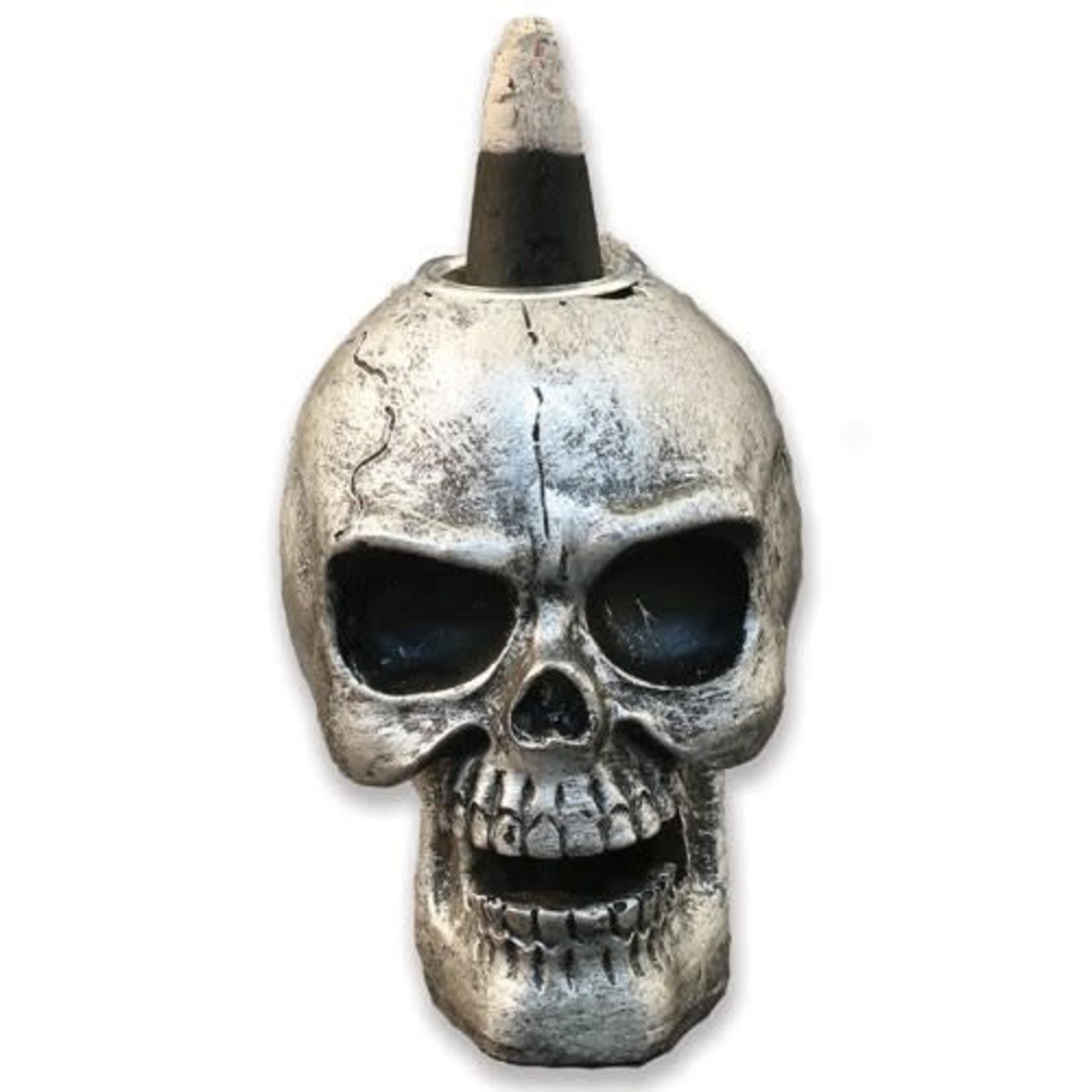 "Backflow Burner Mini Skull 2""W X 3.5""H"