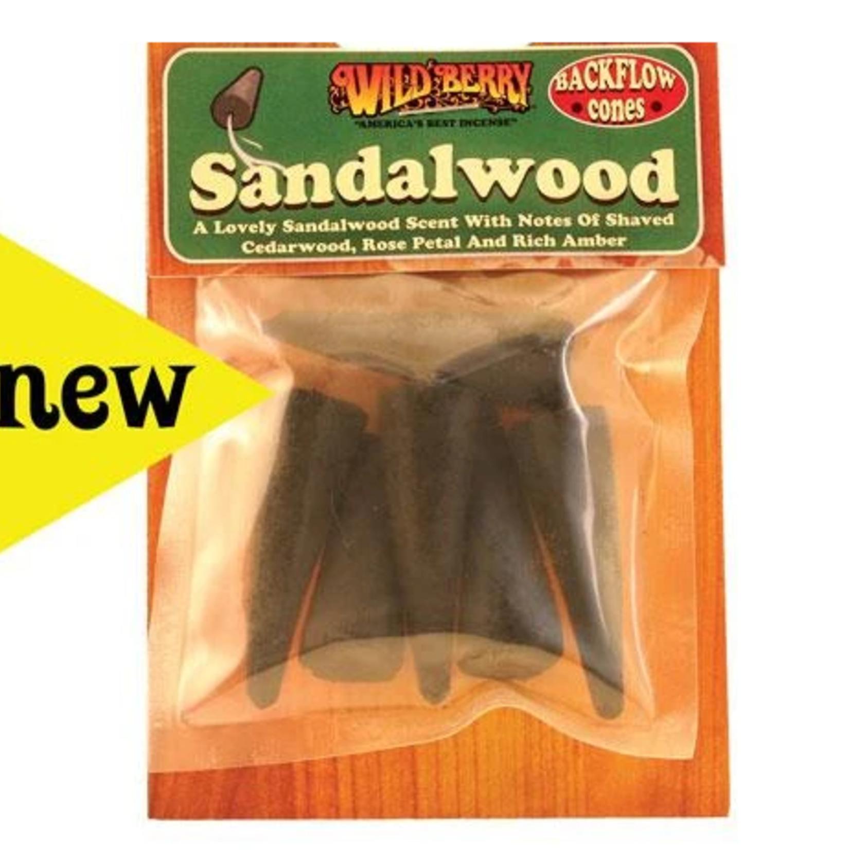Wildberry- Sandalwood Backflow Incense Cone