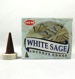 White Sage Incense Cone (HEM)