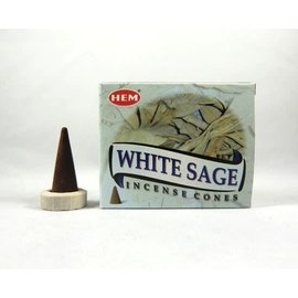 White Sage Incense Cone (HEM)