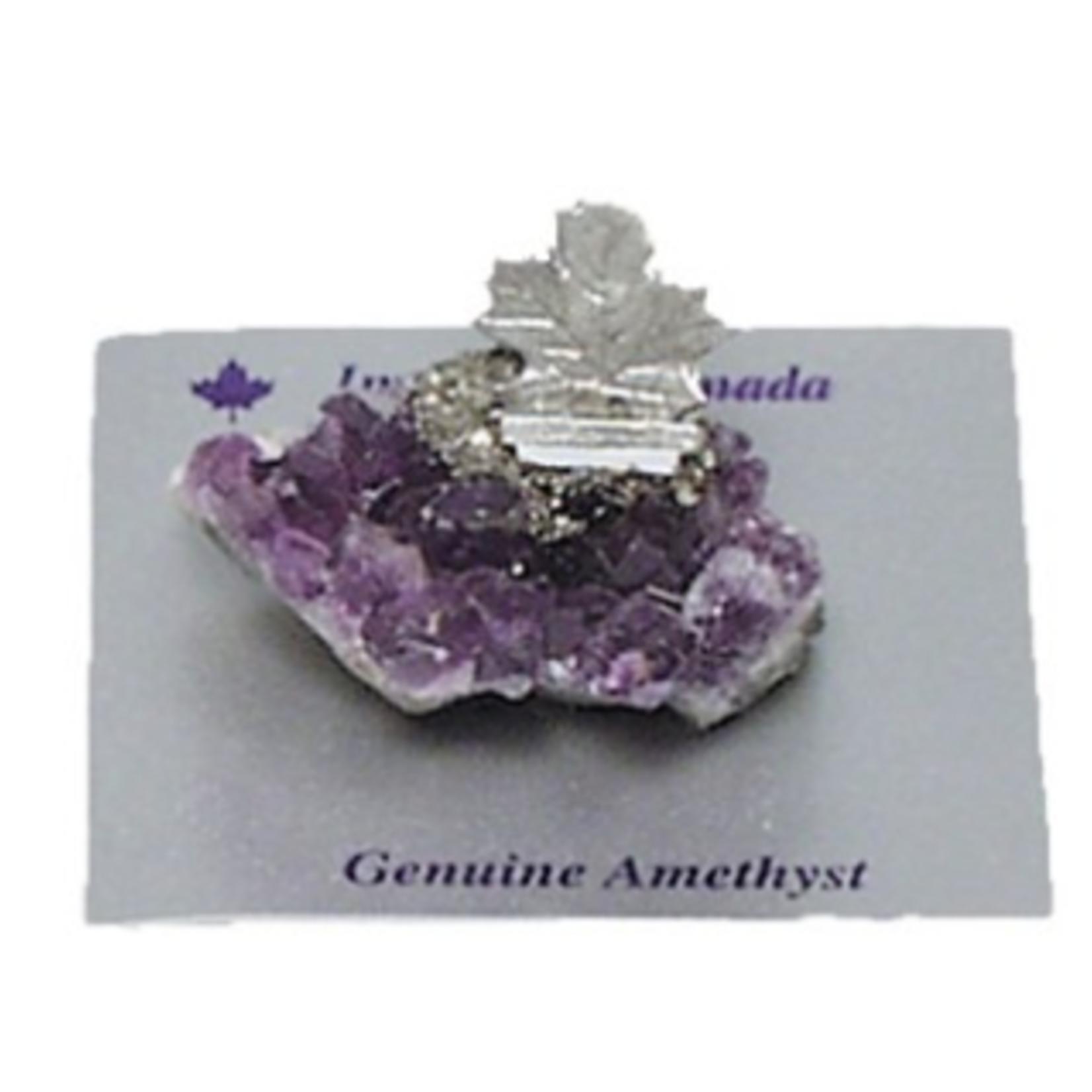 Amethyst Maple Leaf Figurine