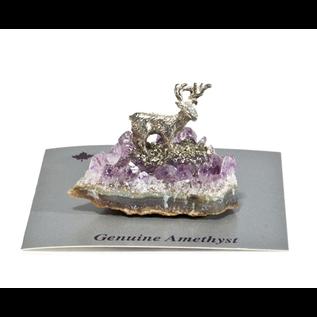 Amethyst Deer Figurine
